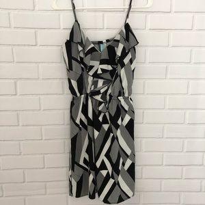 Dina Be Black White Geometric Print Sundress